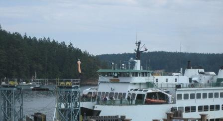 Washington State Ferry Terminal on Orcas Island in the San Juan Islands